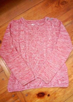 Вязанная с люрексом кофта дало джемпер свитер