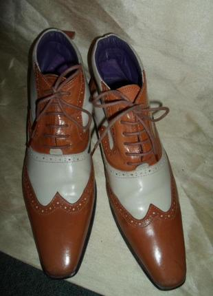 Ботинки (броги) кожаные