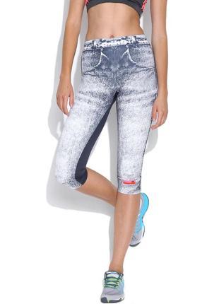 Спортивные капри лосины под джинс