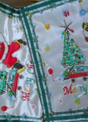 Набор 2 шт. новогодняя декоративная наволочка чехол для подушки, рождество, санта клаус