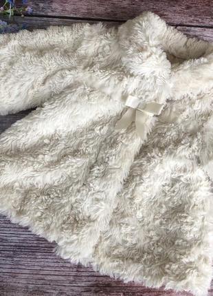 Тепленька шубка на весну / шуба, пальто, куртка 9-12мес