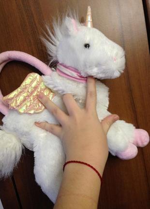 Детская игрушечная мягкая сумочка пони единорожка единорог