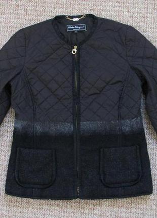 Salvatore ferragamo женская стеганка куртка made in italy оригинал (m - 42) сост.идеал