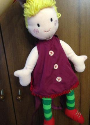 Рюкзак кукла игрушка мягкая