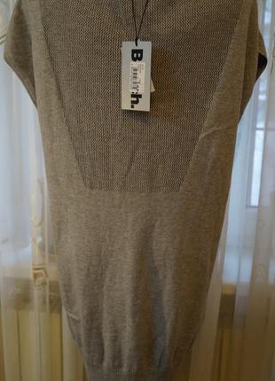 Стильное теплое платье свитер