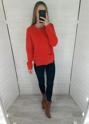 Яркий морковный свитер marks&spencer