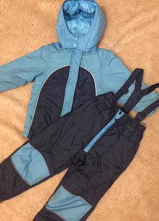 Зимний костюм на мальчика(куртка+ комбинезон)