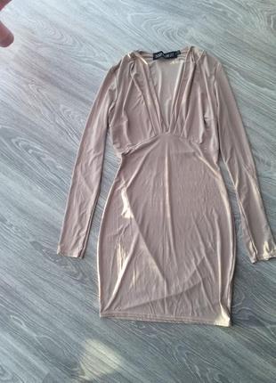 Облегающие платье boohoo с длинными рукавами