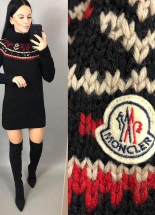 Шерстяное платье свитер шерсть зима moncler