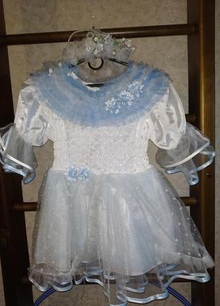 Карнавальное платье снежинки на утренник