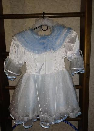 Карнавальное платье снежинки на утренник2