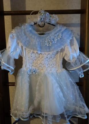 Карнавальное платье снежинки на утренник3