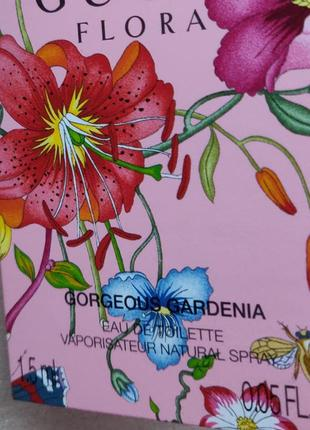 Пробник gucci flora by gucci gorgeous gardenia туалетная вода1
