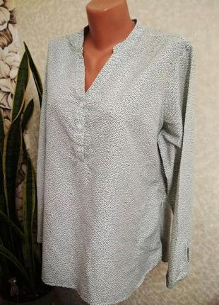 Блуза, рубашка в мелкий горох, лиоцелл/rohan/1+1= 50% скидки на 3ю вещь.