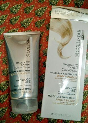 Ухаживающая оттеночная маска для всех типов волос collistar magica cc ванильный блонд