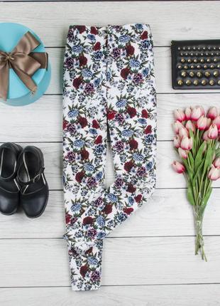 Укороченные цветочные брюки от zara рр 38 eur  наш 44