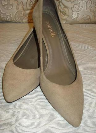 Замшевые туфли лодочки minelli