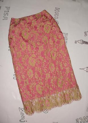 Шикарная кружевная юбка maria grachvogel