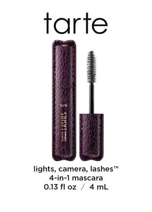 Тушь tarte lights, camera, lashes 4-in-1 mascara