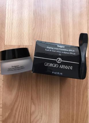 Тональный крем giorgio armani designer shaping cream foundation spf20 №5.5