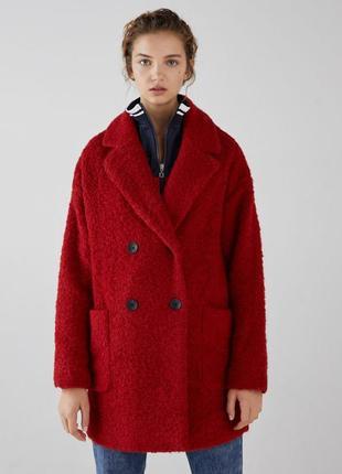 Теплое стильное пальто