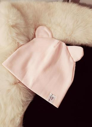 Трикотажна шапка з вушками Польша 55034187bdb08