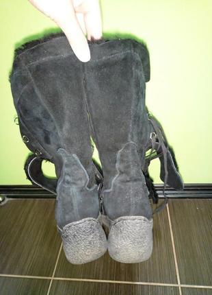 Ботинки женские зима натуральная замша и мех 41р. (полусапожки, сапоги зимние)