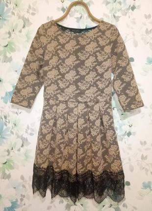 Красивое платье с кружевной спинкой