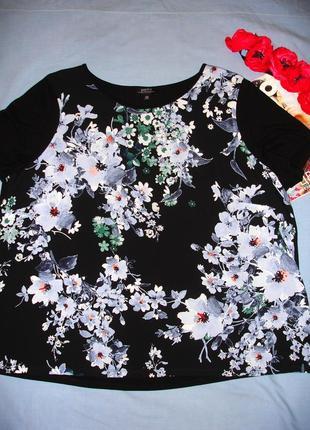 Летняя кофточка футболка большого размера 54 / 20 майка на каждый день свободная