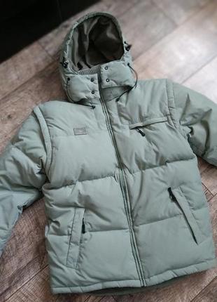 Оригинальный натуральный пуховик куртка от fila/зимняя/короткая-l-48р
