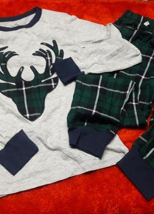 Новогодняя пижама h&m (8-10y ,134-140)