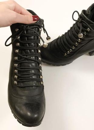 Ботинки кожаные3 фото