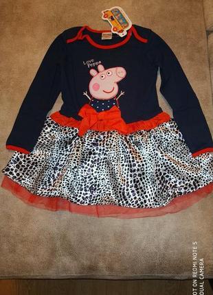 Платье tm nova (леопардовый низ) свинка пеппа