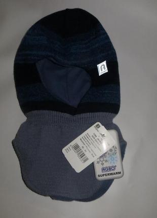 Шапка шлем agbo польша 3-5лет зимняя