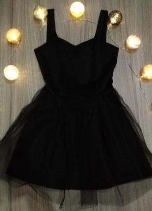 Праздничное платье с юбкой из фатина на новый год