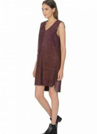 Новое кожаное замшевое платье сарафан stefanel,оригинал