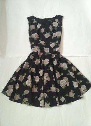 Невероятное платье в розы 14