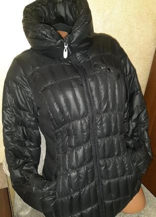 Черная зимняя стеганная куртка пуховик s.oliver,р.42