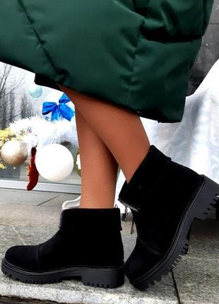 Ботинки женские натуральная замша