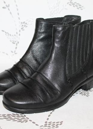Комфортные кожаные ботинки hush puppies 38 размер 24,5 см стелька