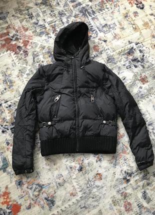 Куртка пуховик италия miss sixty s чёрная тёплая пух