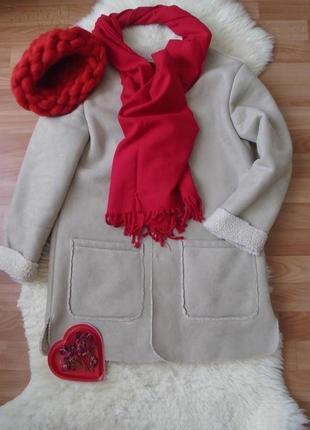 Шикарное пальто пиджак дубленка atmosphere под замшу цвет камел atmosphere