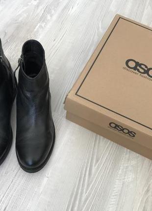 Кожаные ботинки asos - made in india