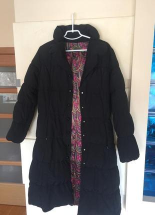 Пуховик , пальто чёрное
