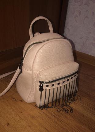 Мини-рюкзак( стильный в пудровом цвете 😍)