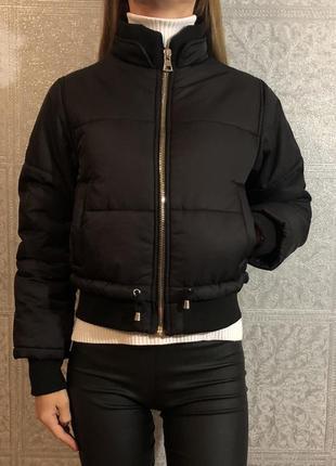 Короткая тёплая куртка пуффер topshop