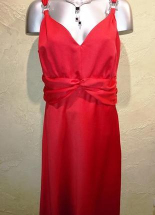 Шикарное красное вечернее нарядное платье в пол 3xl 20 46