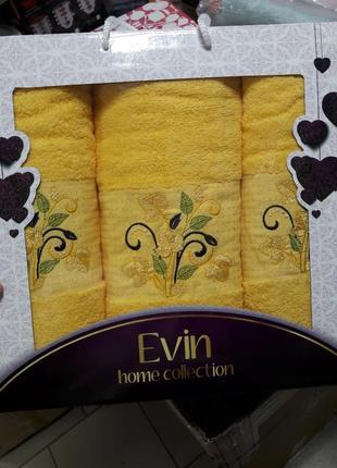Набор полотенец в подарочной упаковке 100%хлопок турция ae cotton