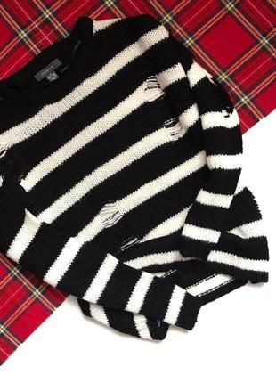 Черно-белый свитер primark