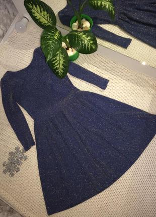 Шикарное новогоднее праздничное блестящее платье